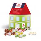 """3D Präsent """"Haus"""" mit Lindt Macarons Mischung"""