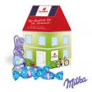 """3D Präsent """"Haus"""" mit Schokoladenmischung von Milka"""