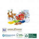 Karton-Adventskalender-Schlitten Ritter Sport mit vier Türchen, Klimaneutral, FSC®, Innen- und Außenteil zu 100% aus Karton