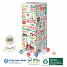 Karton-Adventsturm mit Lindt Schokolade, Klimaneutral, FSC®, Innen- und Außenteil zu 100% aus Karton