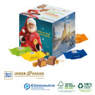 Adventskalender Cube mit Schokowürfel, Klimaneutral, FSC®-zertifiziert