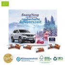 Ökologischer Karton-Tisch-Adventskalender mit Fair-Plus Bio-Vollmilchschokolade, Klimaneutral, FSC®-zertifiziert