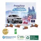 Karton-Tisch-Adventskalender mit Fair-Plus Vollmilchschokolade, Klimaneutral, FSC®-zertifiziert