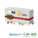 3D Adventskalender Lindt Container, Klimaneutral, FSC®-zertifiziert