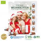 Ökologischer Karton-Wand-Adventskalender mit Fair-Plus Bio-Vollmilchschokolade, Klimaneutral, FSC®-zertifiziert
