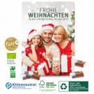 Karton-Wand-Adventskalender mit Fair-Plus Vollmilchschokolade, Klimaneutral, FSC®, Innen- und Außenteil zu 100% aus Karton