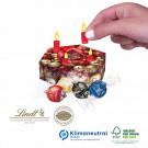 Adventskranz-Präsent mit Lindor Pralines, Klimaneutral, FSC®-zertifiziert
