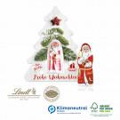 Schokokarte Business Weihnachtsbaum mit Lindt Weihnachtsmann, Klimaneutral, FSC®-zertifiziert