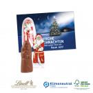Schokokarte Business mit Lindt Weihnachtsmann, Klimaneutral, FSC®-zertifiziert