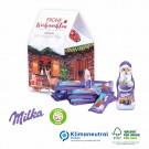 Präsent Weihnachtshaus Milka, Klimaneutral, FSC®-zertifiziert