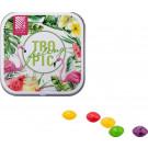 Dose quadratisch Skittles Kaubonbons