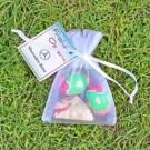 Organzasäckchen Easter 18 g mit Werbekarte