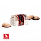 4-er Mini-Lebkuchen Weiss Banderole