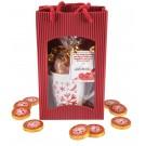Weihnachtspräsent Glossy rot 120g, mit Kärtchen