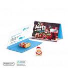 Werbekarte Visitenkartenformat Riegelein Schoko Weihnachtsmann