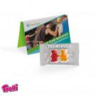 Werbekarte Visitenkartenformat Team Gummibärchen