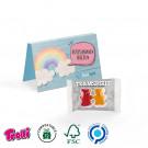 Werbekarte Gummibärchen für Ihre Teambuilder